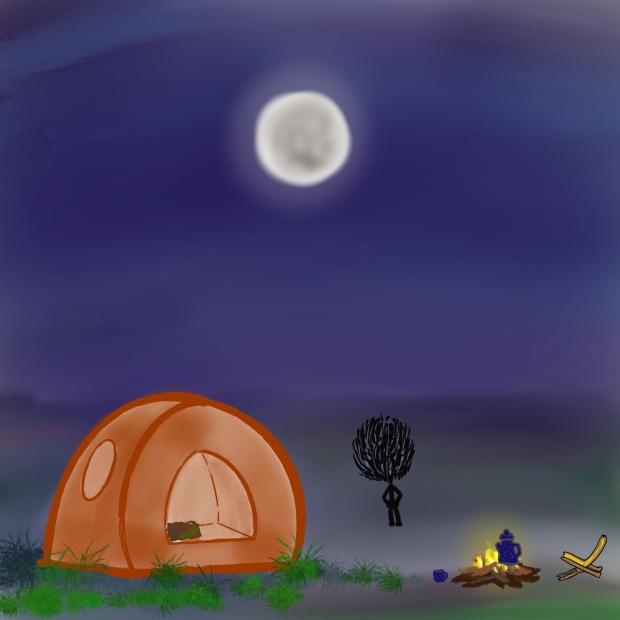Tent, Night, Peace, Sky